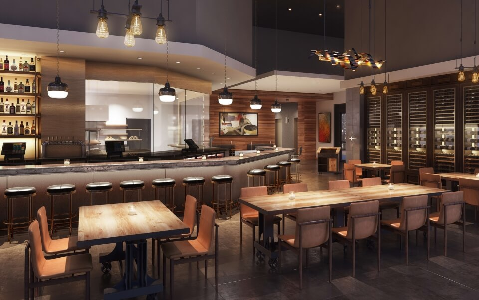 Dining room and bar
